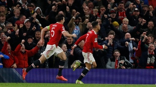 Cristiano Ronaldo celebra el gol de la victoria.