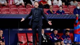 El Cholo Simeone durante el partido entre el Atlético de Madrid...