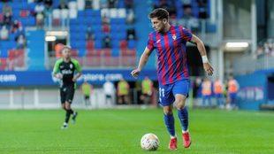 Franchu, en un partido con el Eibar en esta temporada.