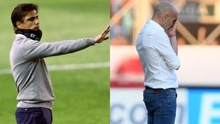 Javier Sanguinetti, de Banfield y Paolo Montero, de San Lorenzo, los...