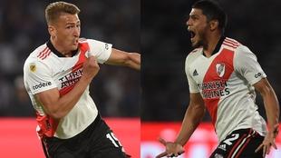Romero y Rojas gritan sus goles.