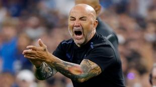 Jorge Sampaoli durante un partido.